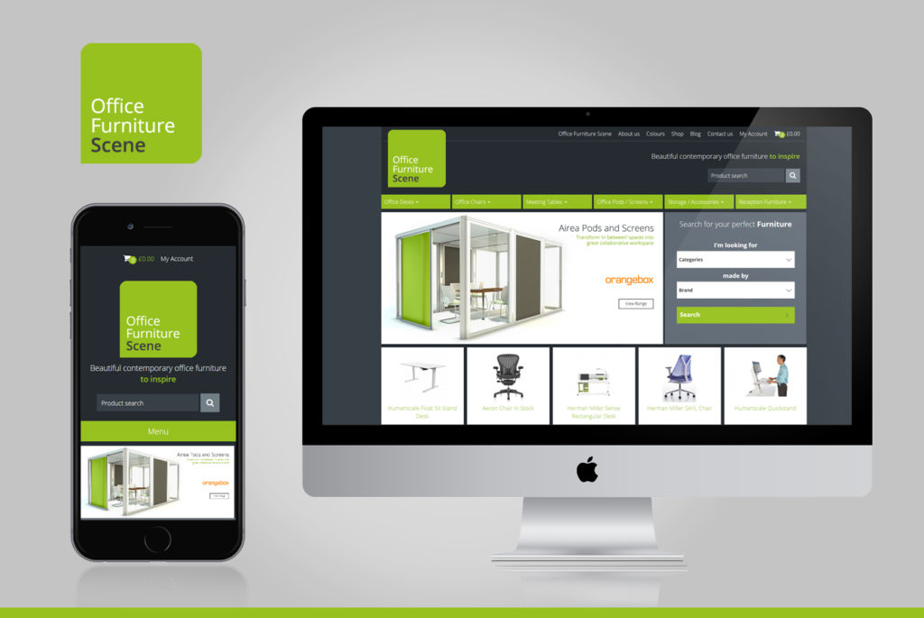 Office Furniture Scene Goes Responsive