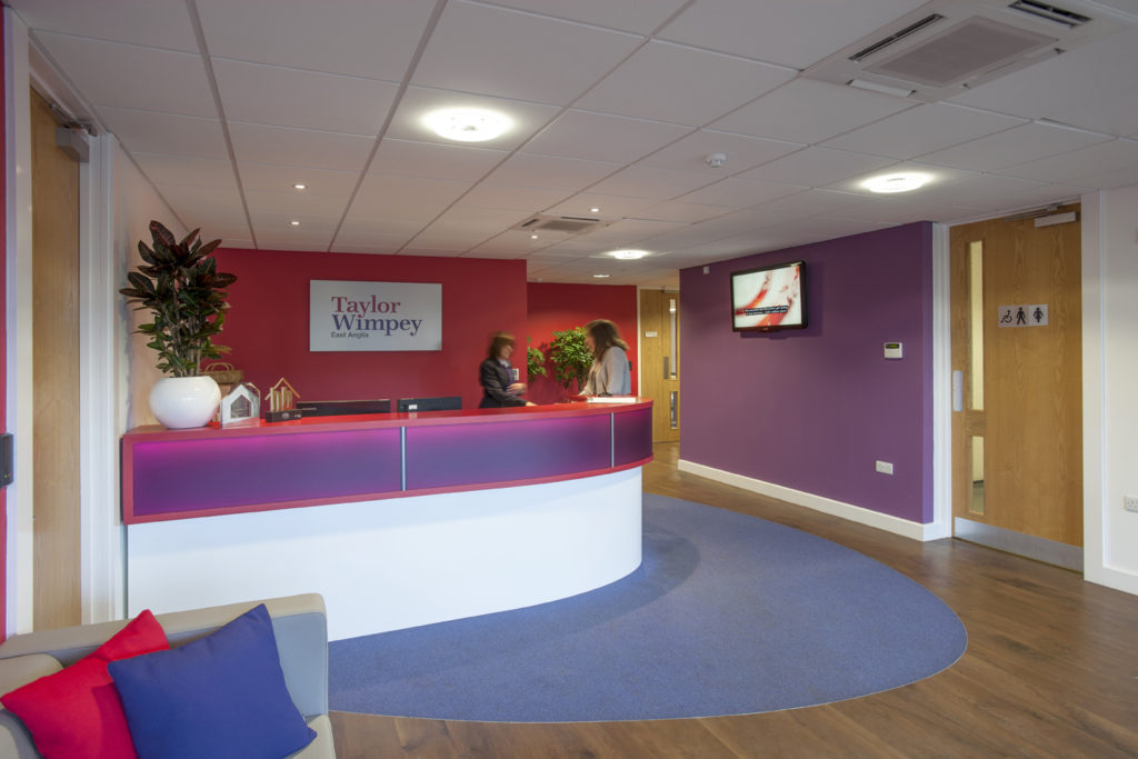 taylor wimpey reception design