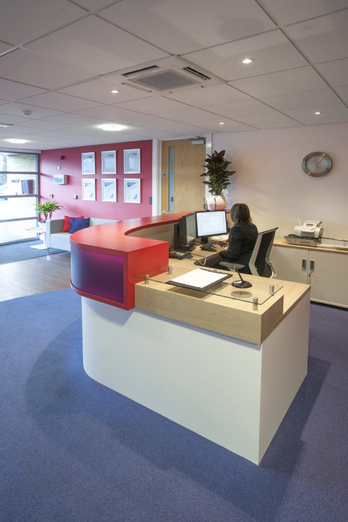 bluespace design for taylor wimpey reception