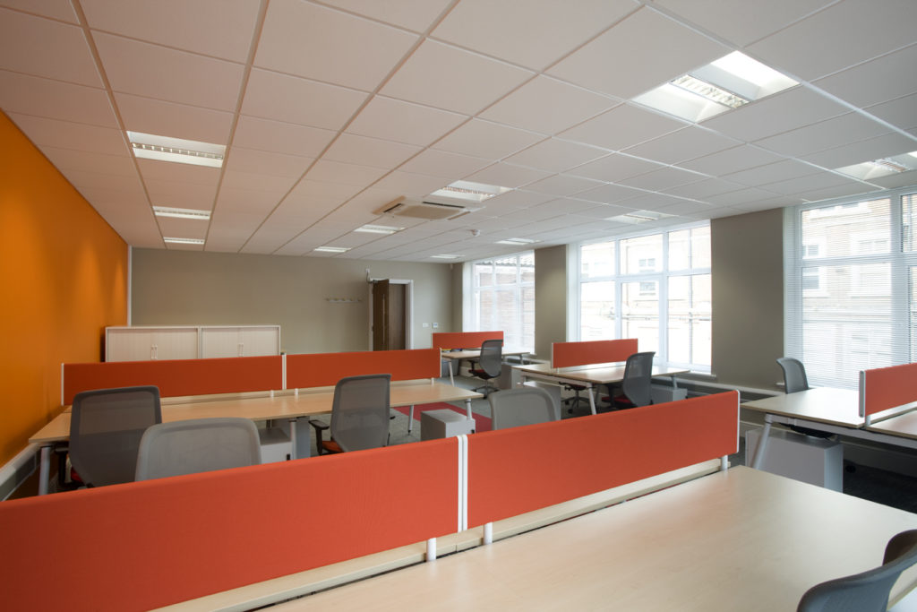 open plan office design