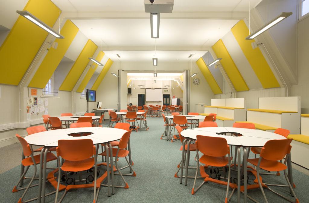 interior design for notre dame classroom