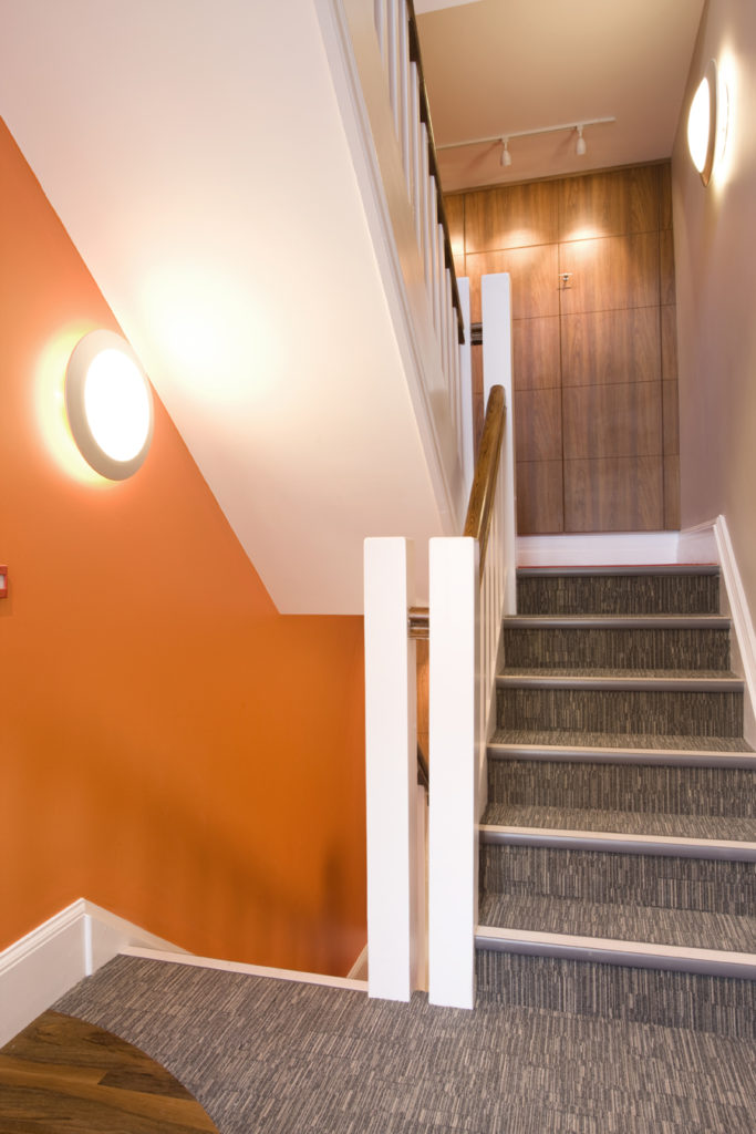 office refurbishment stairwell