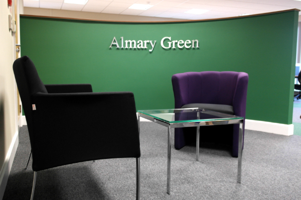 almary green give their office a new look