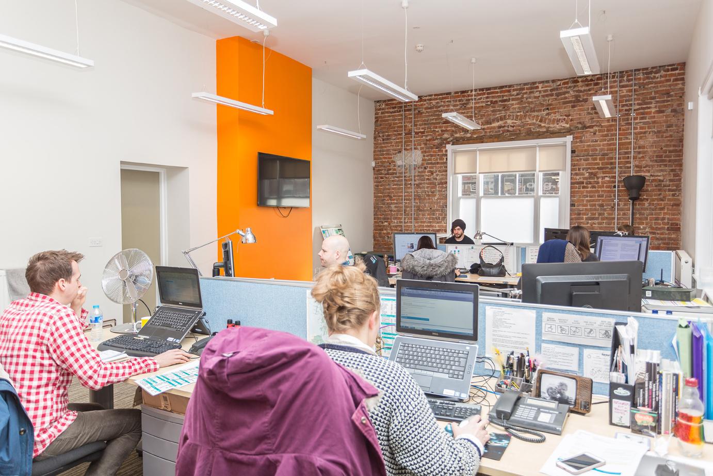 production bureau office design norfolk. Black Bedroom Furniture Sets. Home Design Ideas