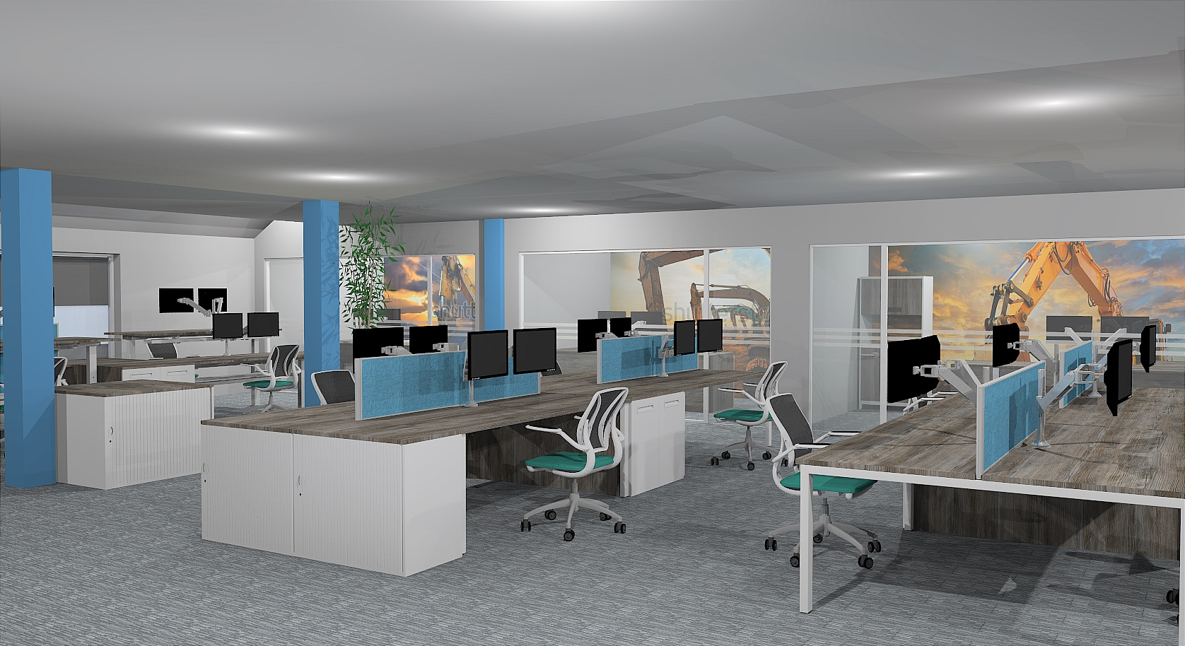 batemans office design render