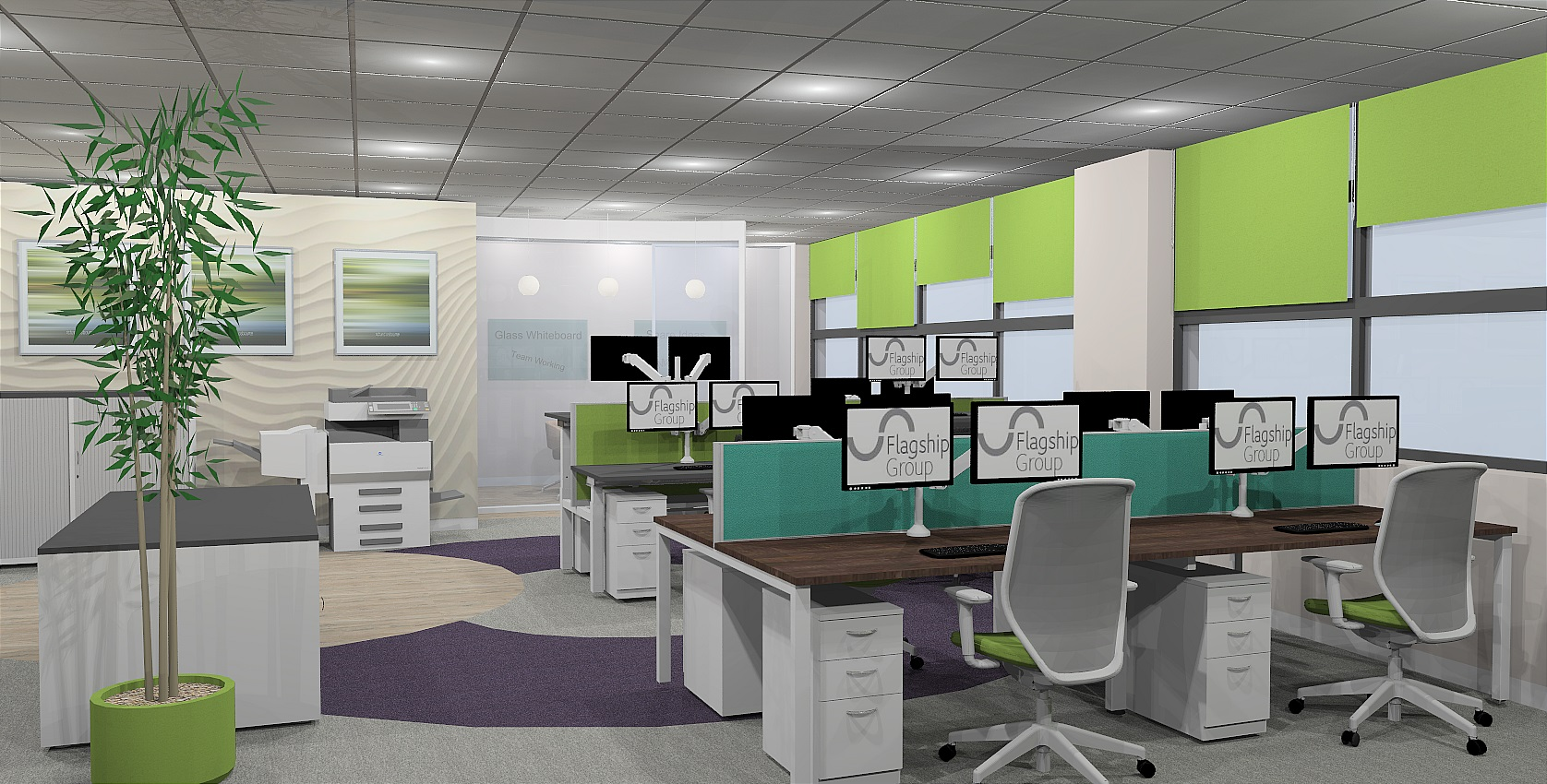 Flagship First Floor Office Design Render