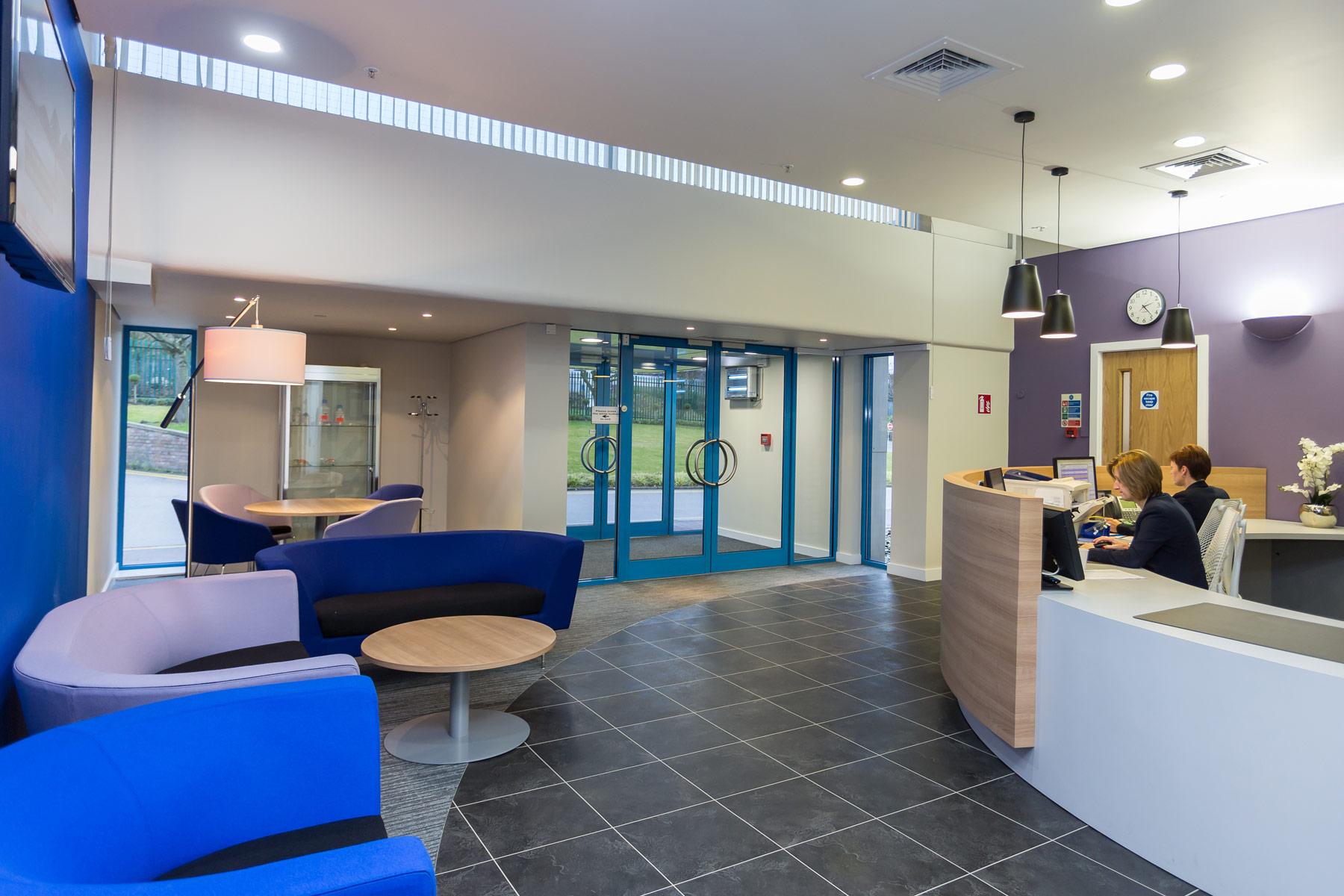 healthcare reception design