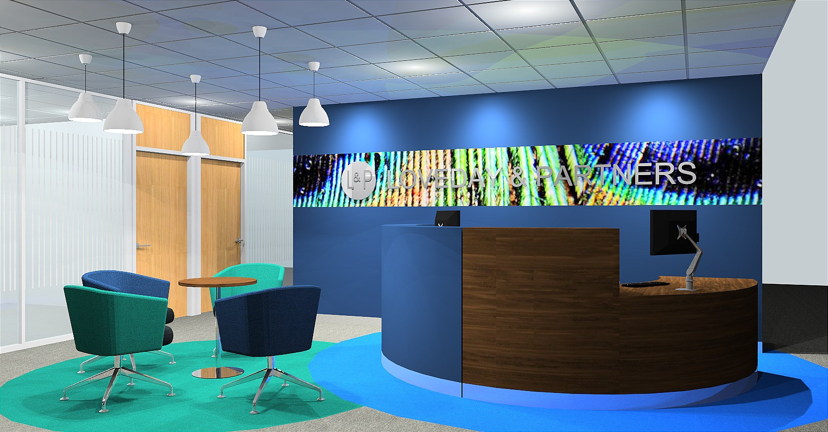Loveday reception office design render
