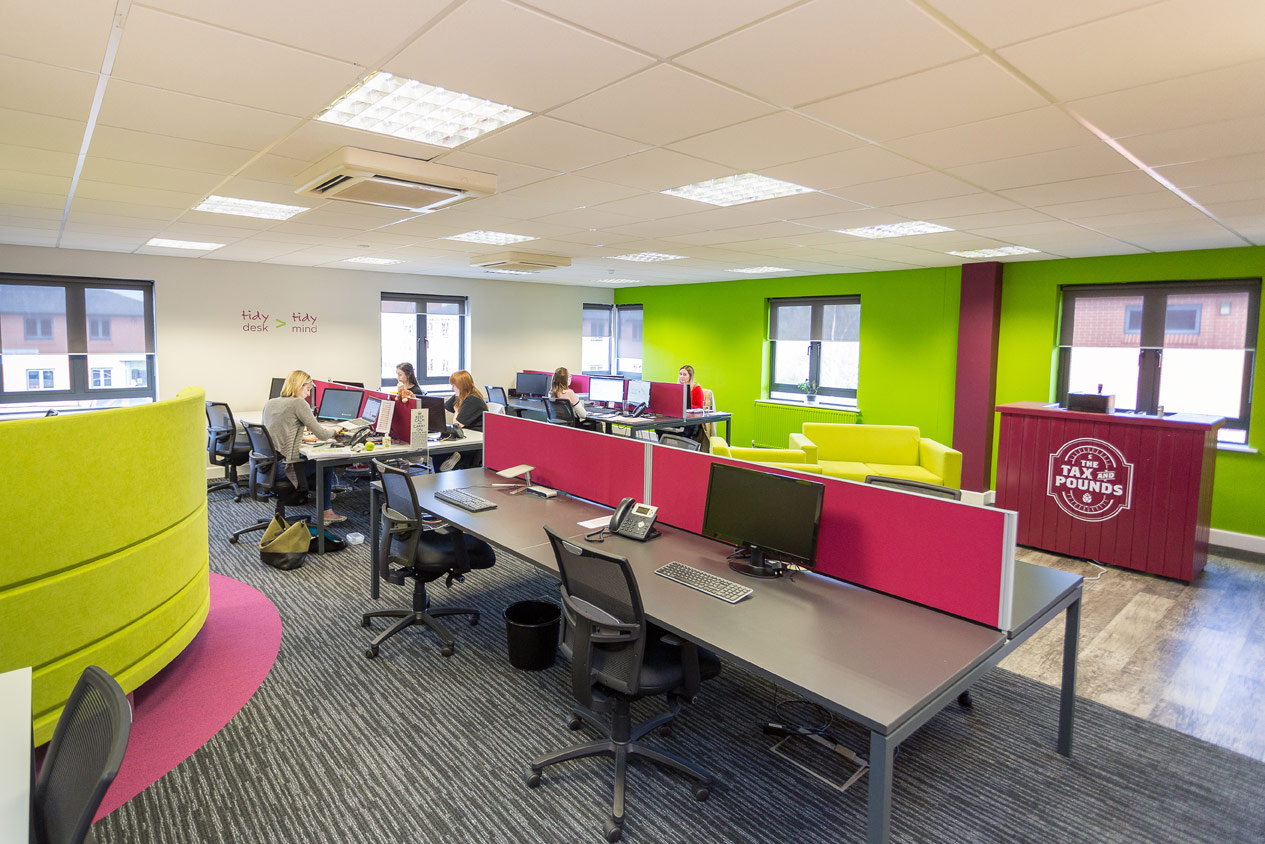 Farnell clarke bluespace ltd for Open plan office design