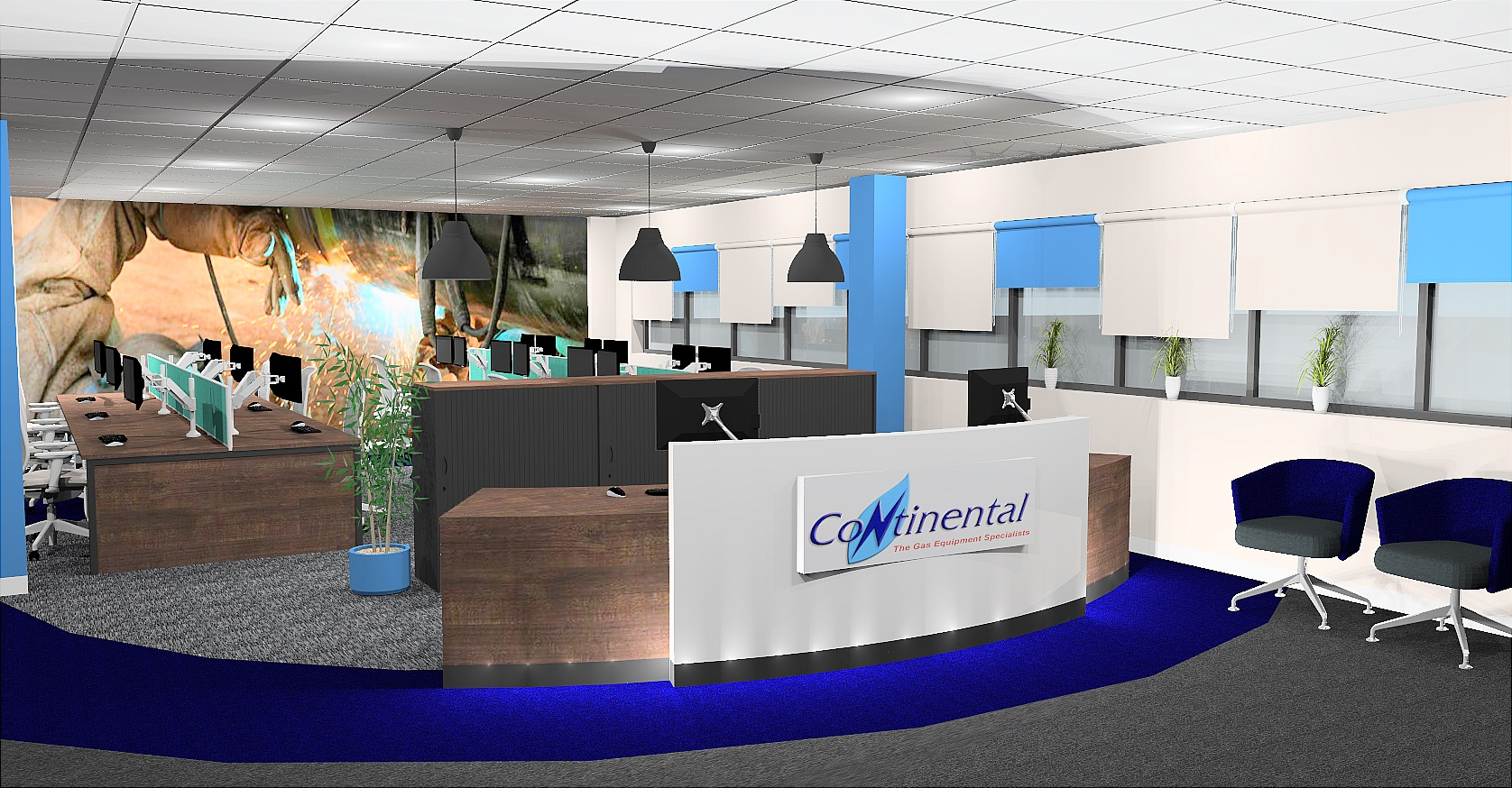 Continental Reception Design