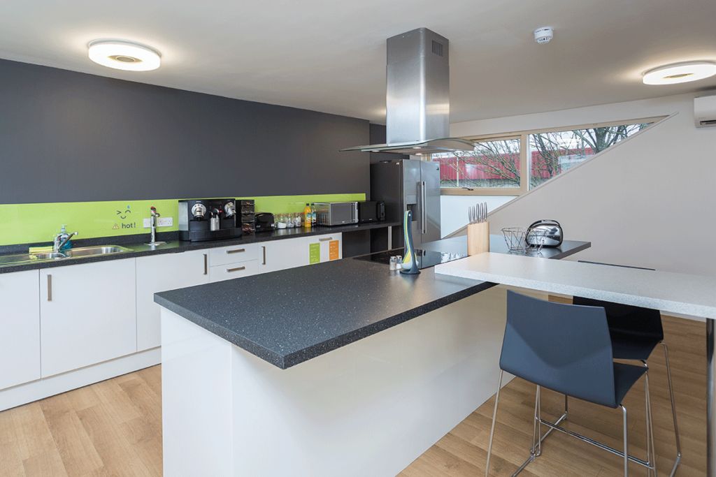 Kitchen belonging to a contemporary office
