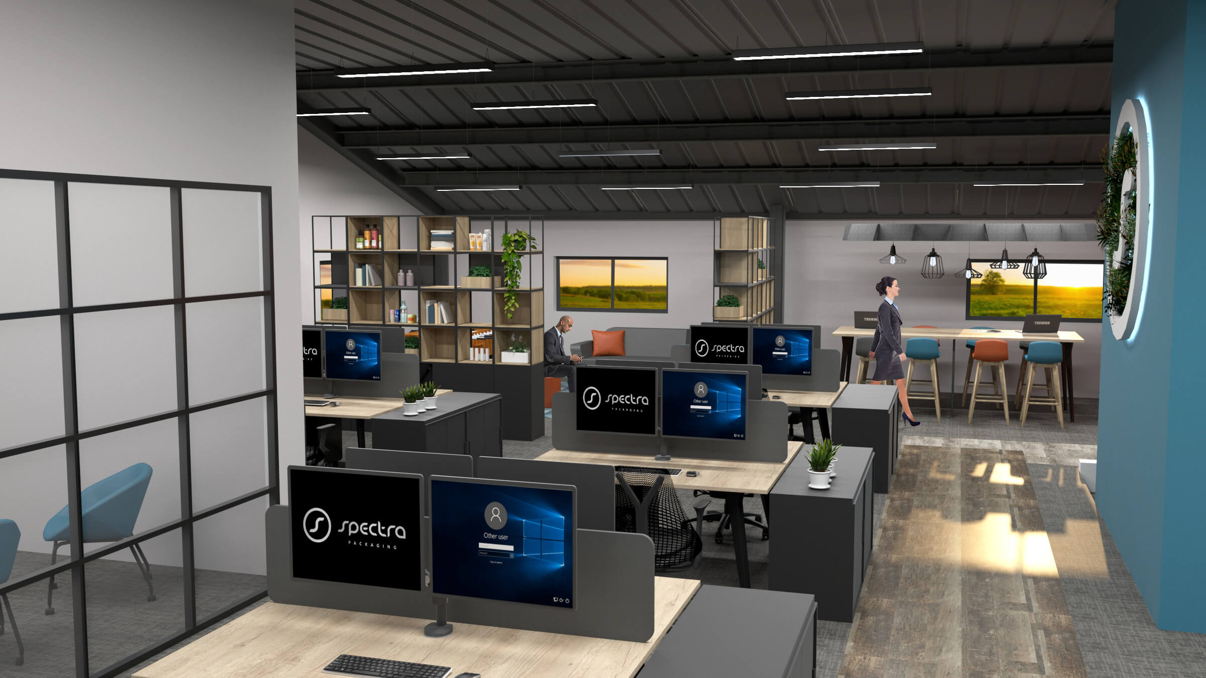 Example of office design process
